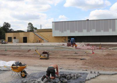 Inrichting schoolplein en parkeerterrein Campus Kollum