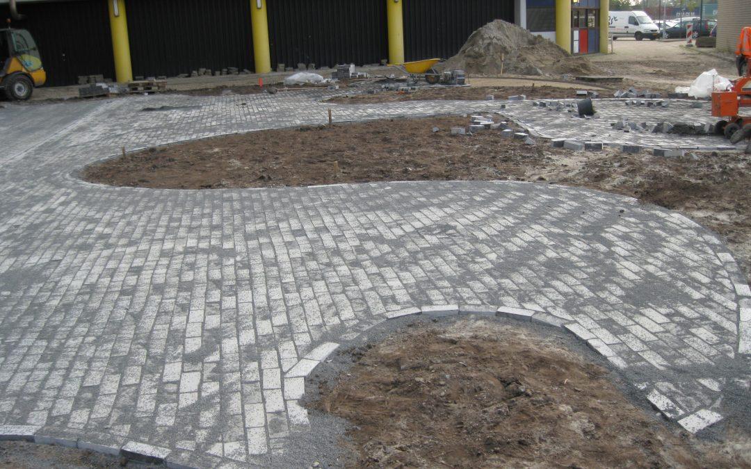 Straatwerk gebouw Rijkswaterstaat Leeuwarden